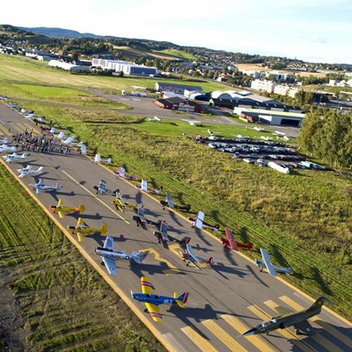 Luftfartsskolen har landet på Kjeller flyplass